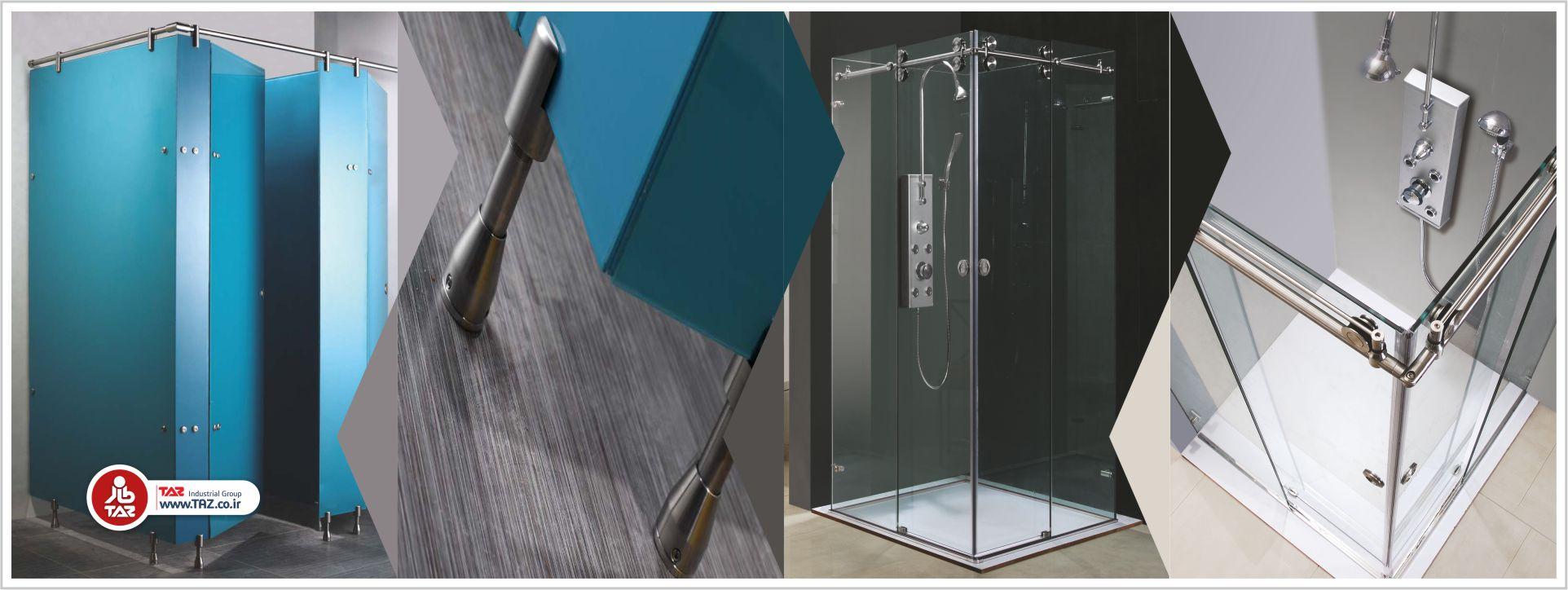 پارتیشن های شیشه ای حمام