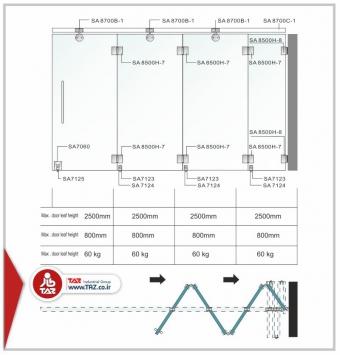 درب آکاردئونی سری : TAZ-8700B
