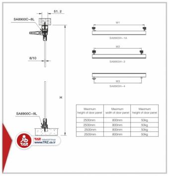 دربهای بالکونی سری  :  TAZ-8900H